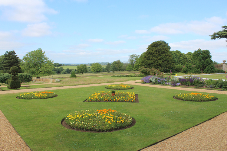 The restored early-18th century formal gardens.