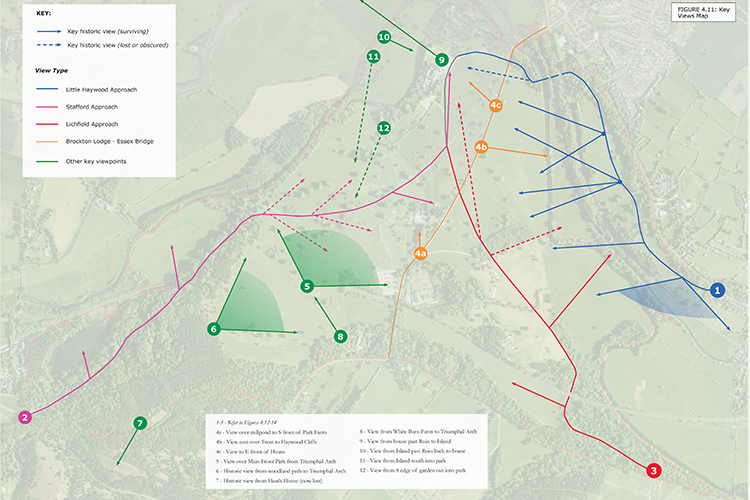Views analysis map, one of a number of analysis diagrams we prepared for the Plan.