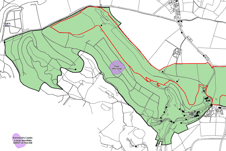 GIS was used to map key assets & management info
