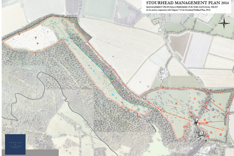 Maps were overlaid & proposals located on large-scale plans