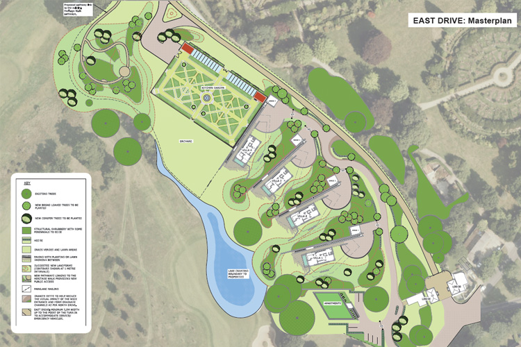 The masterplan we prepared for the site