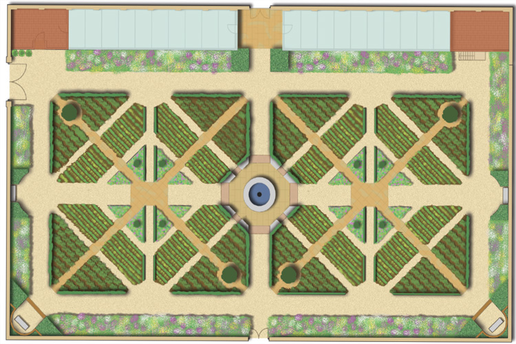 The new walled garden to form part of the landscape