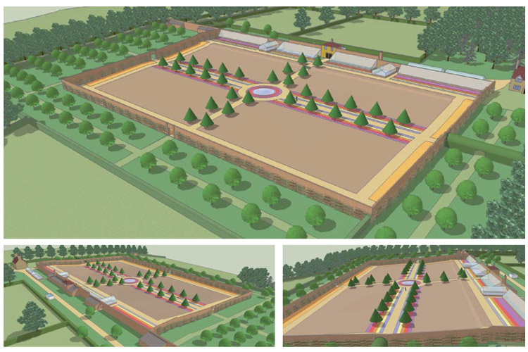 A model we created to better understand the historic garden