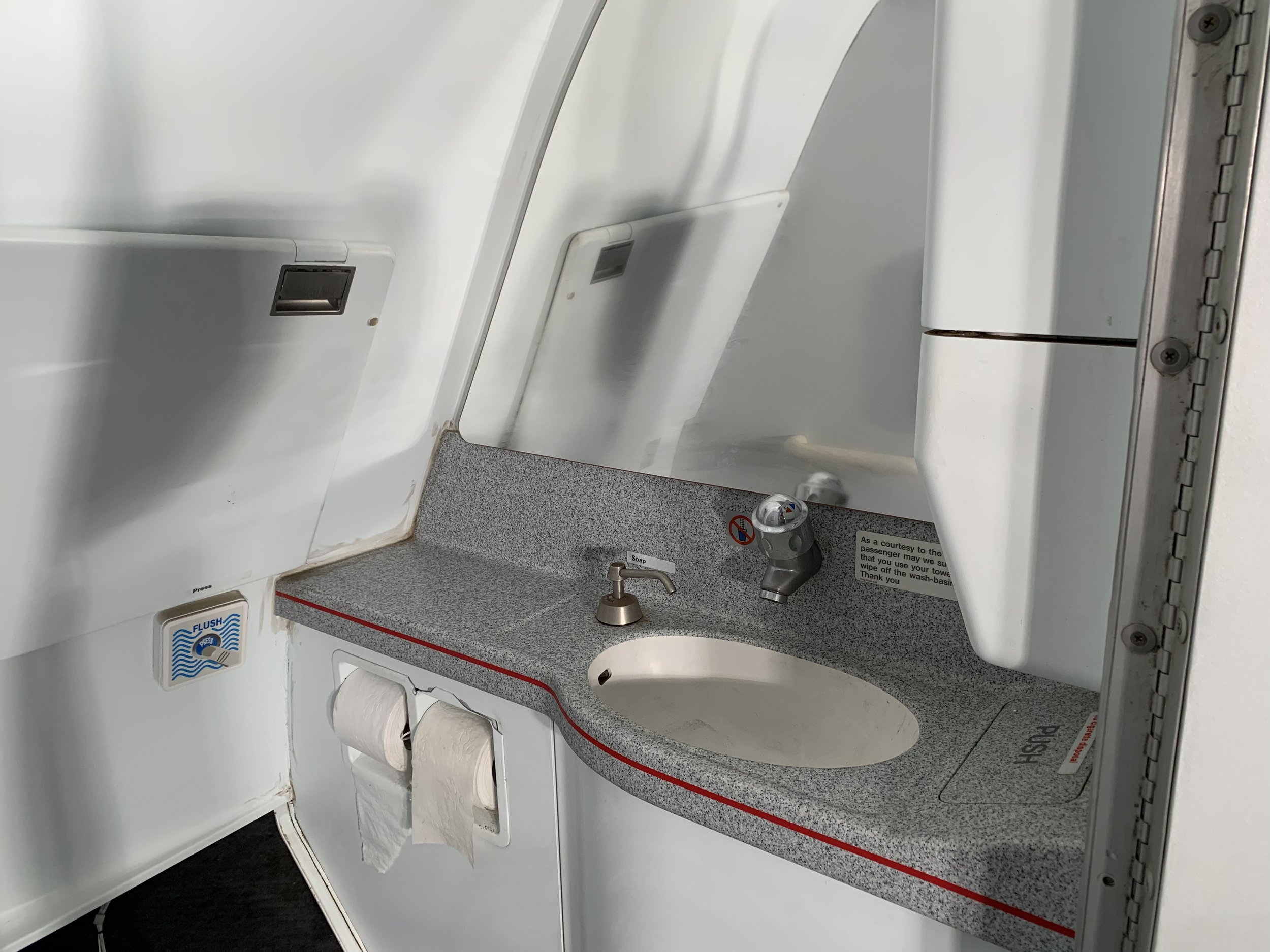 "Lavatory - Single - For the enthusiast for whom no detail must be spared! This ex-A320 lavatory would be an ""interesting"" addition to your setup.USD $750"