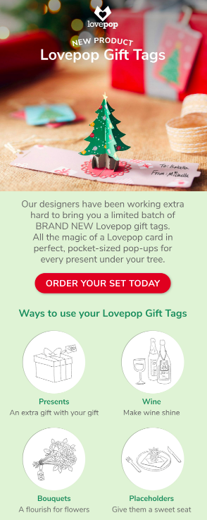 Lovepop Cards new product launch:  Pop-up Gift Tags