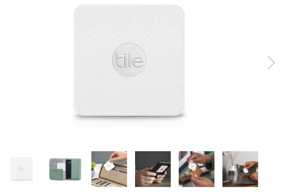 Tile Slim is claimed the thinnest Bluetooth tracker. Rather than making it portable, sewing a similar tracker chip in the wallet is a better solution for my boyfriend. ( https://www.thetileapp.com/en-us/store/tiles/slim )