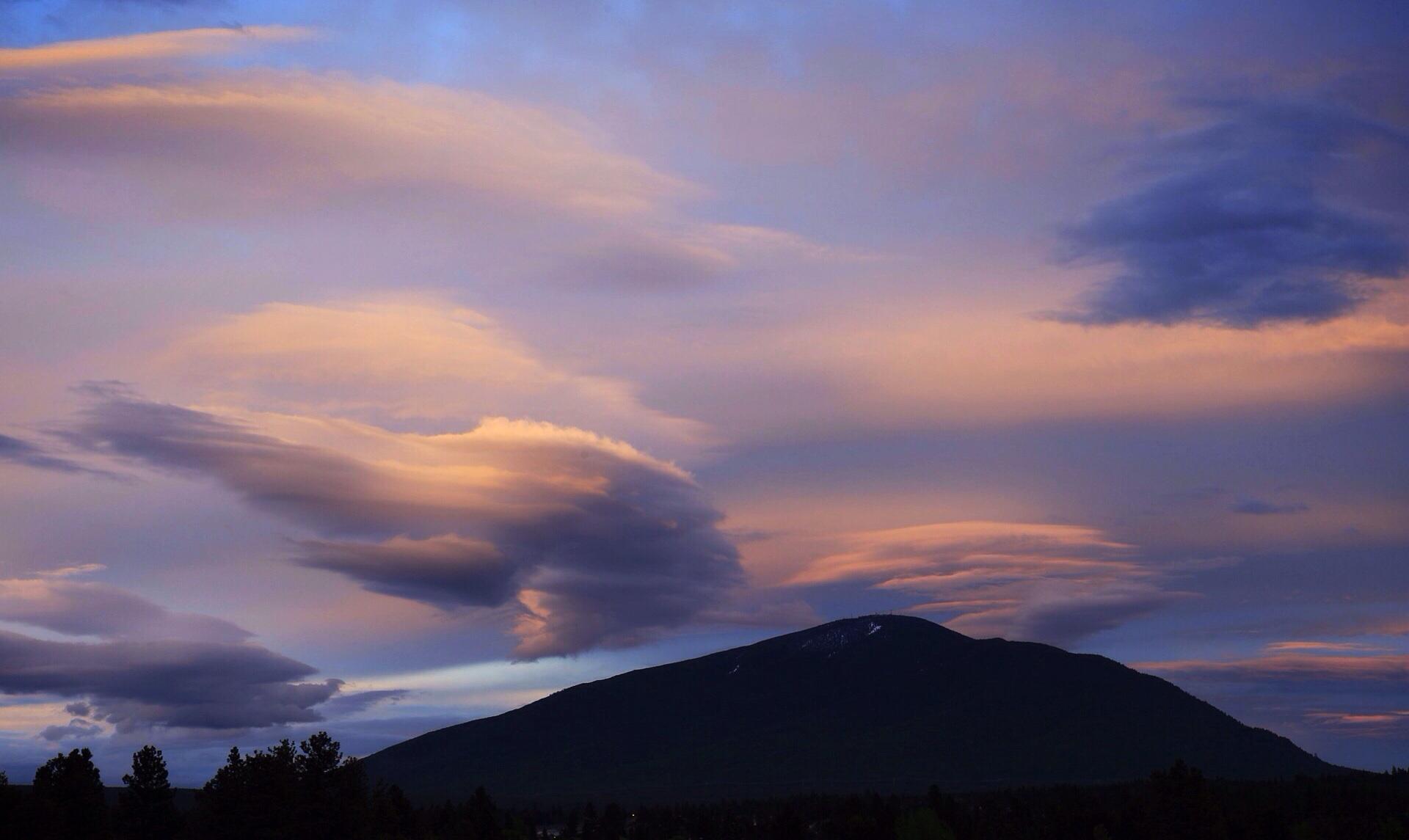 Sunset over Cranbrook, BC