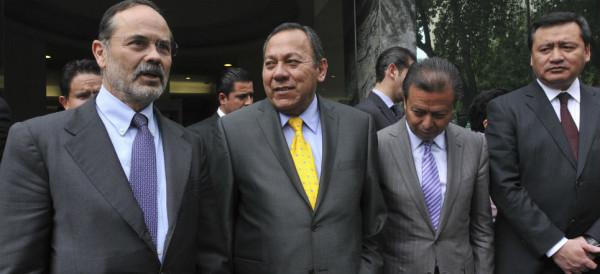 Gustavo Madero Muñoz, Jesus Zambrano Grijalva, César Camacho Quiroz, y Miguel Ángel Osorio Chong.