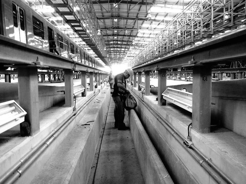 Construcción de la Línea 12.