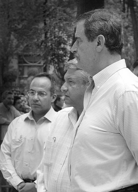 Felipe Calderón, Andrés Manuel López Obrador y Vicente Fox