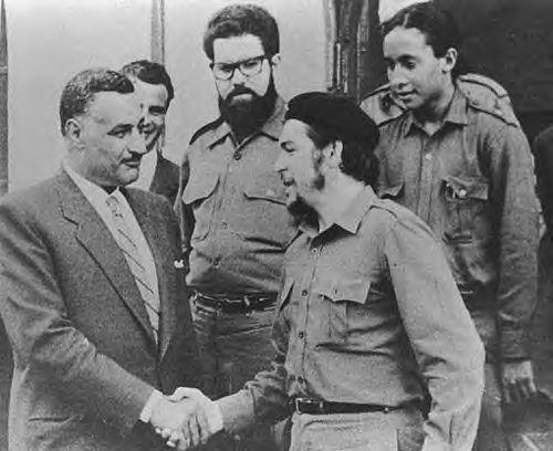 Gamal Abdel Nasser y Ernesto Che Guevara