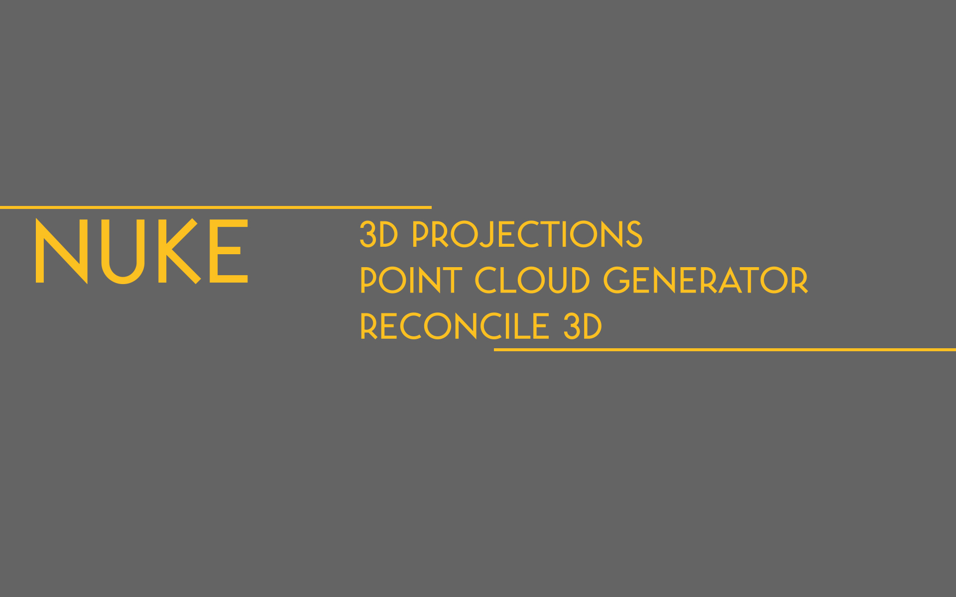 Nuke Point Cloud Generator — Joe Raasch