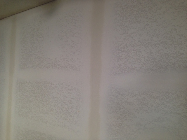 Drywall textured and finished. Now ready to paint.