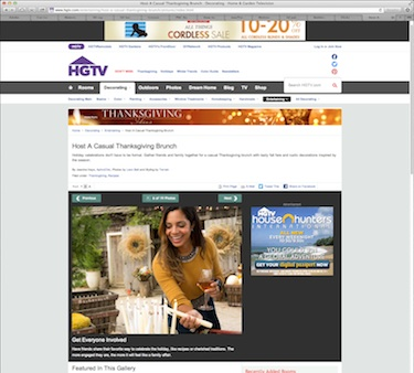 Screenshot from HGTV.com