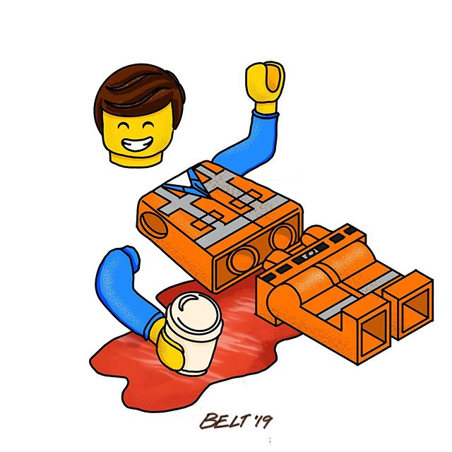 INJURED #inktober2019 #inktober #inktoberprompts @lego @thelegomovie. @inktober
