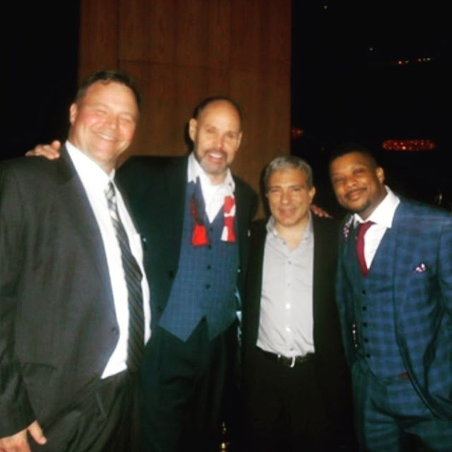 #flashbackfriday #sportsemmys @ernie.johnson and @dugfitzs Andy armas this photo looks older than it is btw it's just a year and a half old
