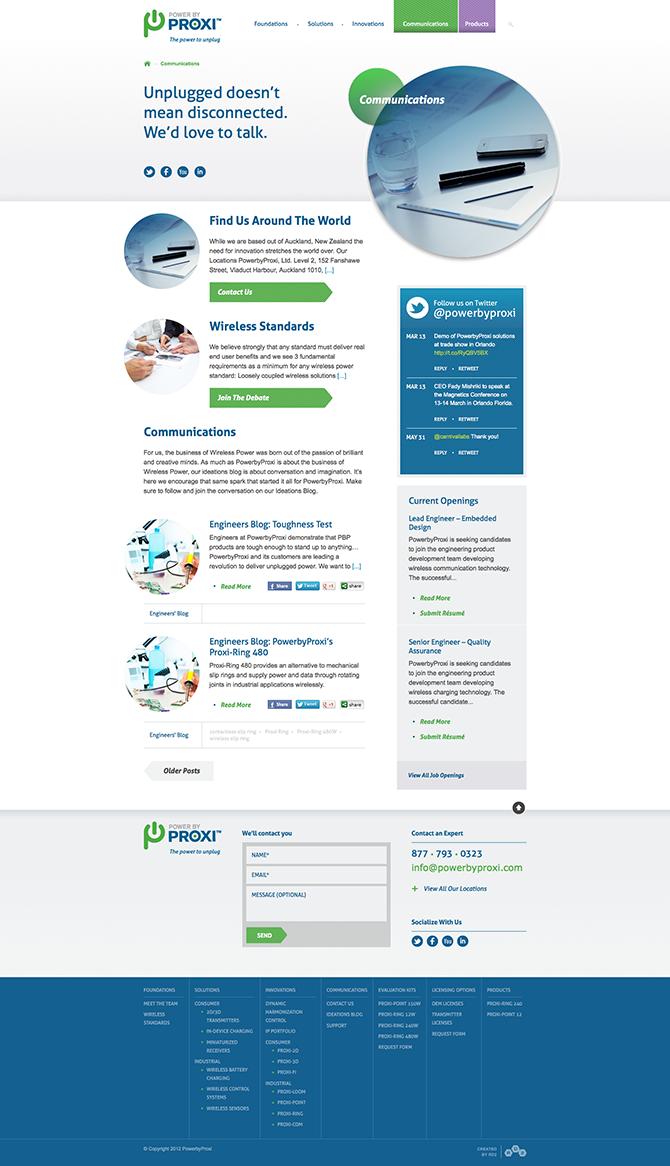 PowerbyProxi : Communications