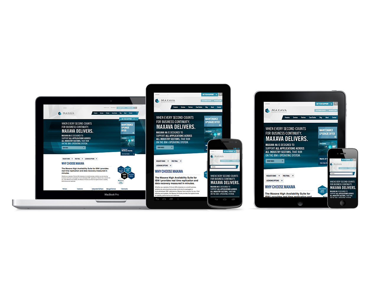 Maxava gets a new responsive website design   Home page