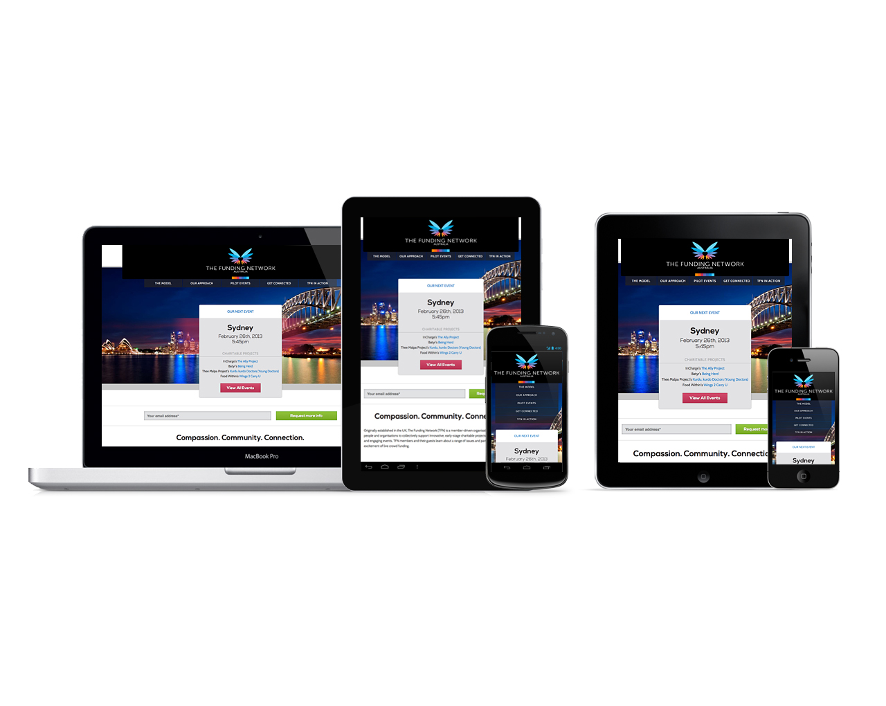 RD2 crafts a new responsive website design for The Funding Network, Australia | Home Page