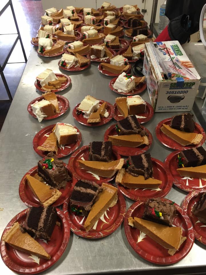 Desserts are ready to be served by St. Mark's volunteers at the Homeless Memorial at St. Mary's on King Street.