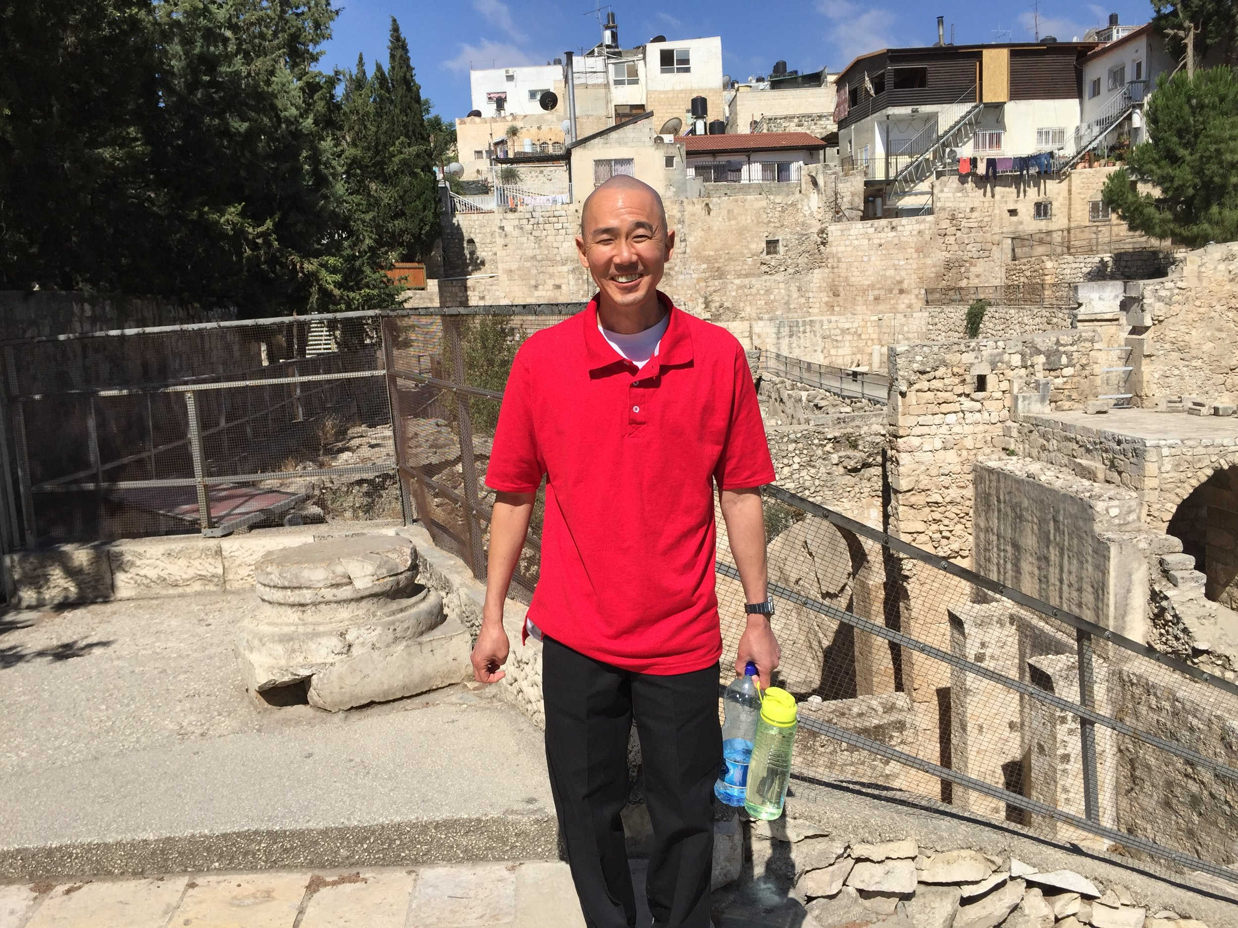 Michael Ida on pilgrimage in Jerusalem