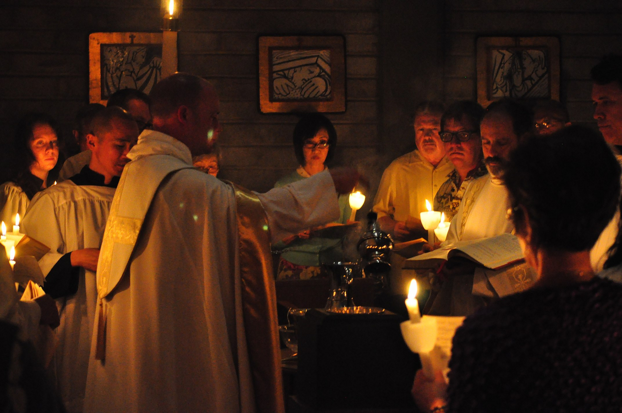 Censing of the Baptismal Font at the Easter Vigil