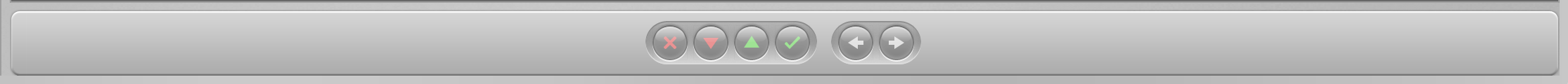 Control Bar with Navigation & Ratings buttons