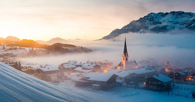 Got this pic of Ellmau in Austria featured on National Geographic @natgeoyourshot #DailyDozen. If you want to see it as Photo of the Day then follow the link in my profile, hit the Vote button and sign up 👍  Let's get Ellmau to the top! . . . @topskischule @bergbahnen_ellmau_going  @skiweltwilderkaiserbrixental #photooftheday #ellmau #skiwelt #travelphotography #landscapephotography #snow #mountains #mountainlife #winterscene #winter #austria #photoofday #bestphoto #sunset