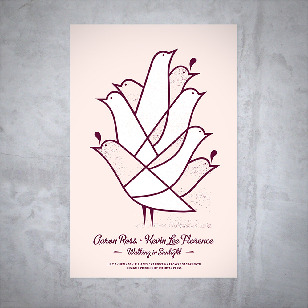 Screenprinted poster for an indie/folk show. ​Click below for more images.