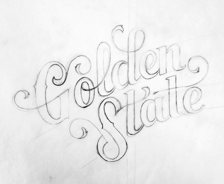 One of the early sketches of the lettering. I wanted it to look elegant but still have a hand drawn feel.