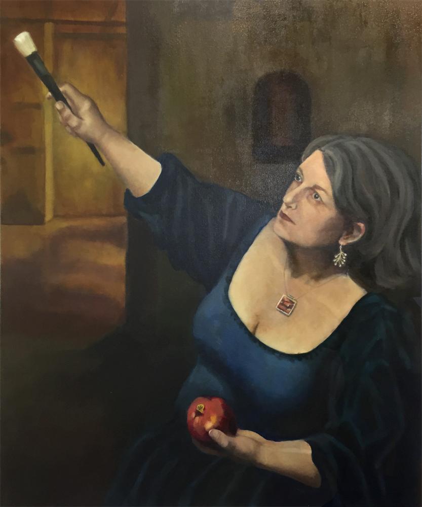Self-portrait after Artemisia Gentileschi