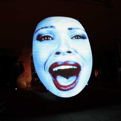 DIVA  (2010)   Projected Video on Custom Shaped Screen