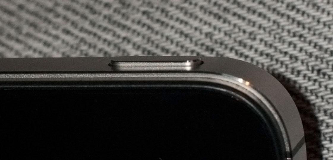 The iPhone 4S Sleep/wake button.