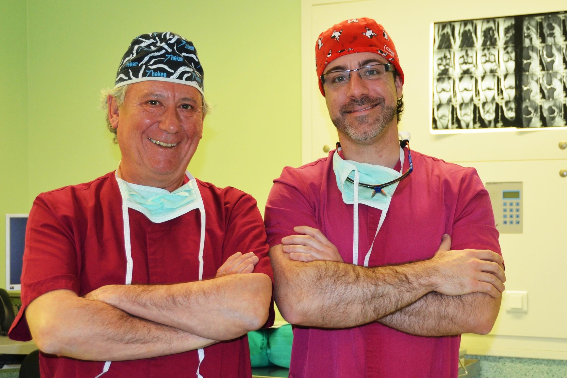 Los doctores  E. Rodríguez Boronat  y  S. Solsona