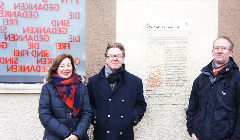 OStD Karin Stallmann, Jörg Schmitz,  Olaf Schürmeyer