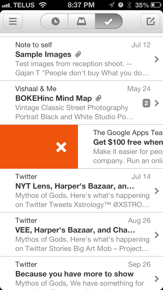 Mailbox. One of the greatest mail apps to grace the iPhone.