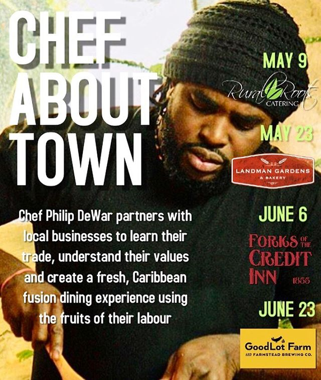 Bearing Good news this Friday!! Some friends & I are collaborating on a dinner series titled #ChefAboutTown  They're putting ME to WORK, to understand their craft- I'll in turn prepare a Carib-Fusion menu to reflect my experience with them.  Imma be deep into the culinary bag-o-trix to truly capture the essence of these fine folks:  @ruralrootscatering @landmangardens @forksofthecreditinn @goodlot.beer  We definitely would love you joining us on this journey. Check the dates, tell a friend! * email info@Soulyve.ca for tickets and info *  #chefabouttown #localbusinesses  #soulyve #yis