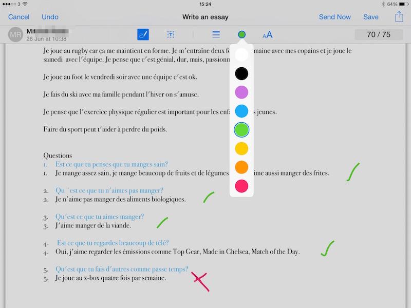 PDF Markup Tools - Teacher View