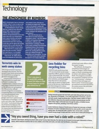 Wow GreenPrint got mentioned in the New Scientist today. The UK, mainstream weekly science publication. Even better my parents have a subscription. You can read their take  here   Technorati Tags:  greenprint
