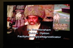 During my recovery period (hangover) at the weekend I ended up watching public access TV and happened to capture this guy. Can some one please explain what a Faciliphonologicaltagnosticator is? I didn't think so. He seemed to be talking about blood quite a lot if I remember correctly.