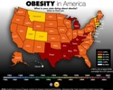 "Great animated chart showing the growth of obesity in America over the last 20 years. Its shocking to see just how recent most of the growth has been. In some states more than 25% of the adult population have BMI's over 30, regarded as obese. The health impact of that level of obesity will be immense, from diabetes through artherosclerosis to heart attacks. I can imagine that the associated costs to society, both medical costs and lost productivity, sick days etc, will be very high. In the same way that smokers now pay suficient tax through the purchase of ciggarettes to offset the cost of health issues (at least in the UK) perhaps we should find a way to do the same with obesity. It is difficult to conceive of how you might tax fat, but it might be neccessary sooner rather than later. For your interest my BMI is currently 24.5, just inside the ""normal weight"" category. If I wanted to join the obese club I would have to put on 45 lbs or 20.5 kg, thats a lot of burgers and beer. If you want to calculate yours there are a million place on the web and here is one  http://nhlbisupport.com/bmi/  If you are feeling brave leave your BMI in the comments, that includes you Dan. See the diagram  here  via the amazing  boingboing.net    technorati tags:   obesity   ,    health      Technorati Tags:  health ,  obesity"