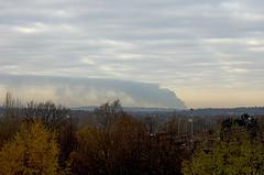 Buncefield Fire from my window