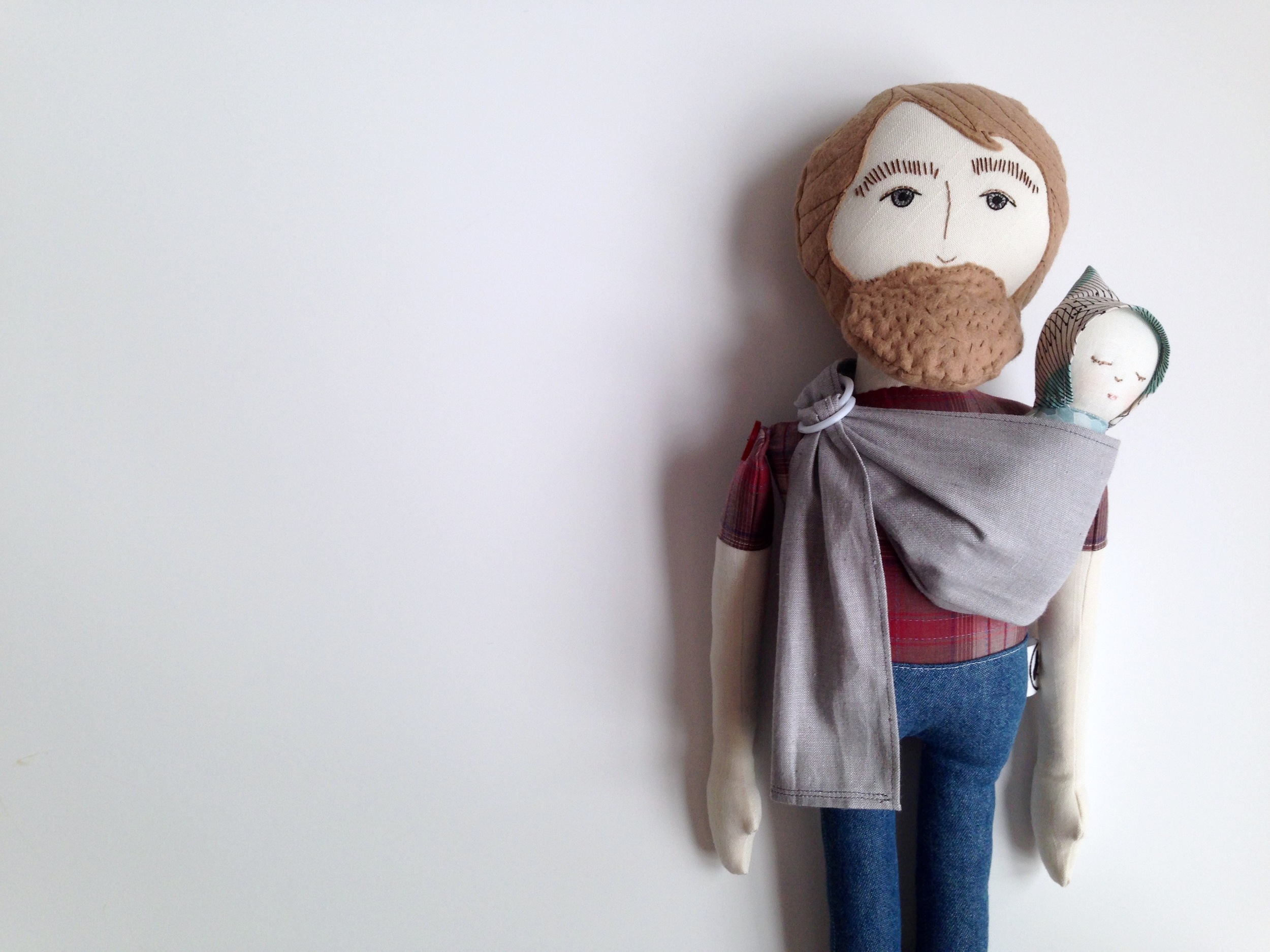 Bearded Babe in Baby Carrier