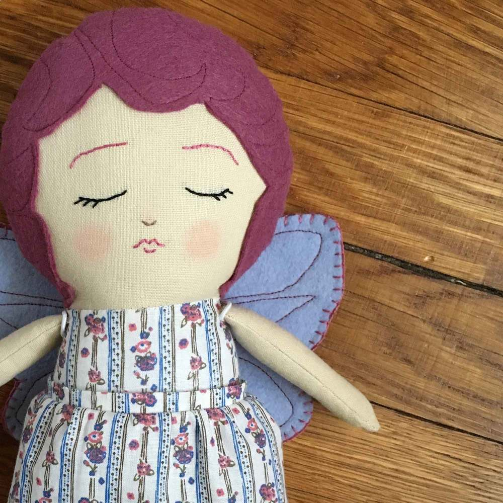 Magenta Sleeping Fairy Doll