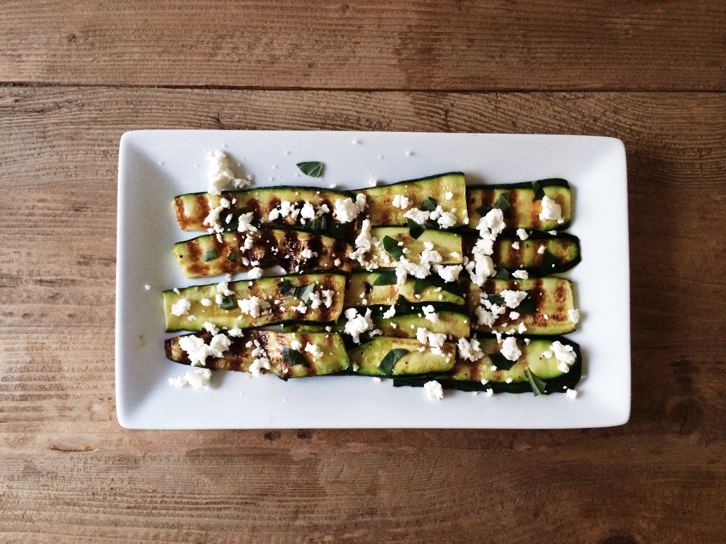 Zucchini, Basil, and Goat Cheese Salad / Eat This Poem