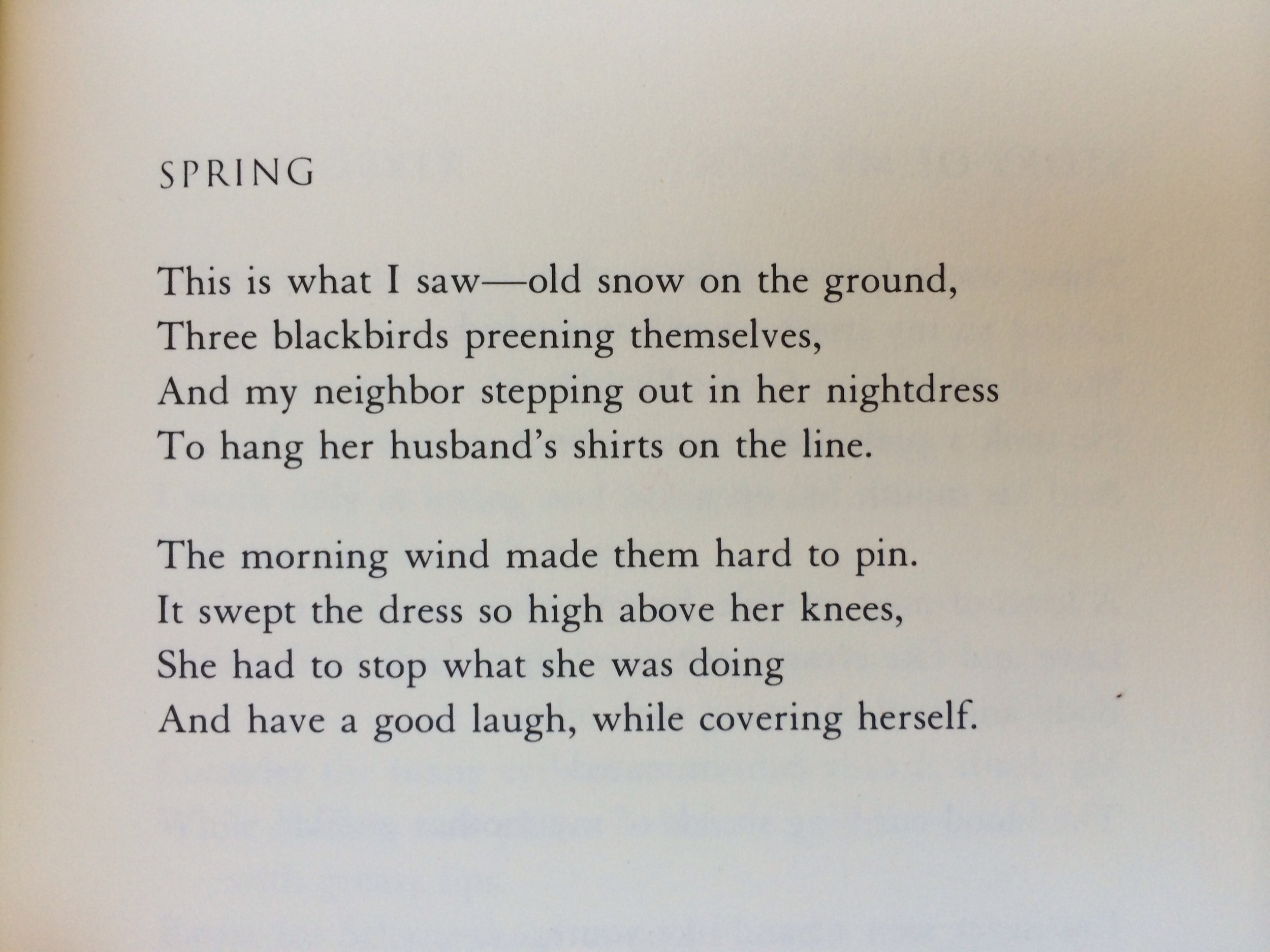 """""""Spring"""" by Charles Simic"""
