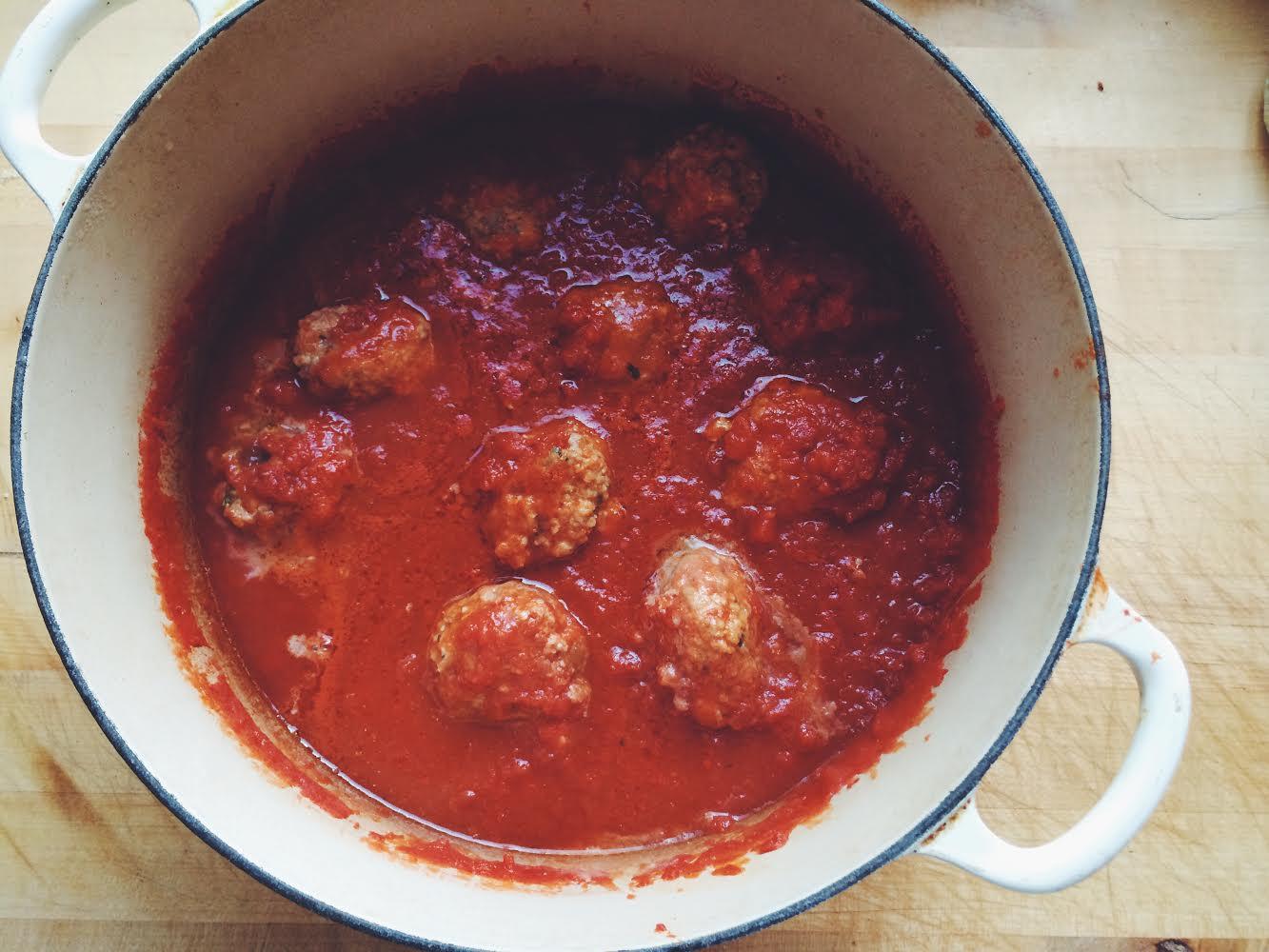 Spaghetti and Meatballs #italian #eatthispoem
