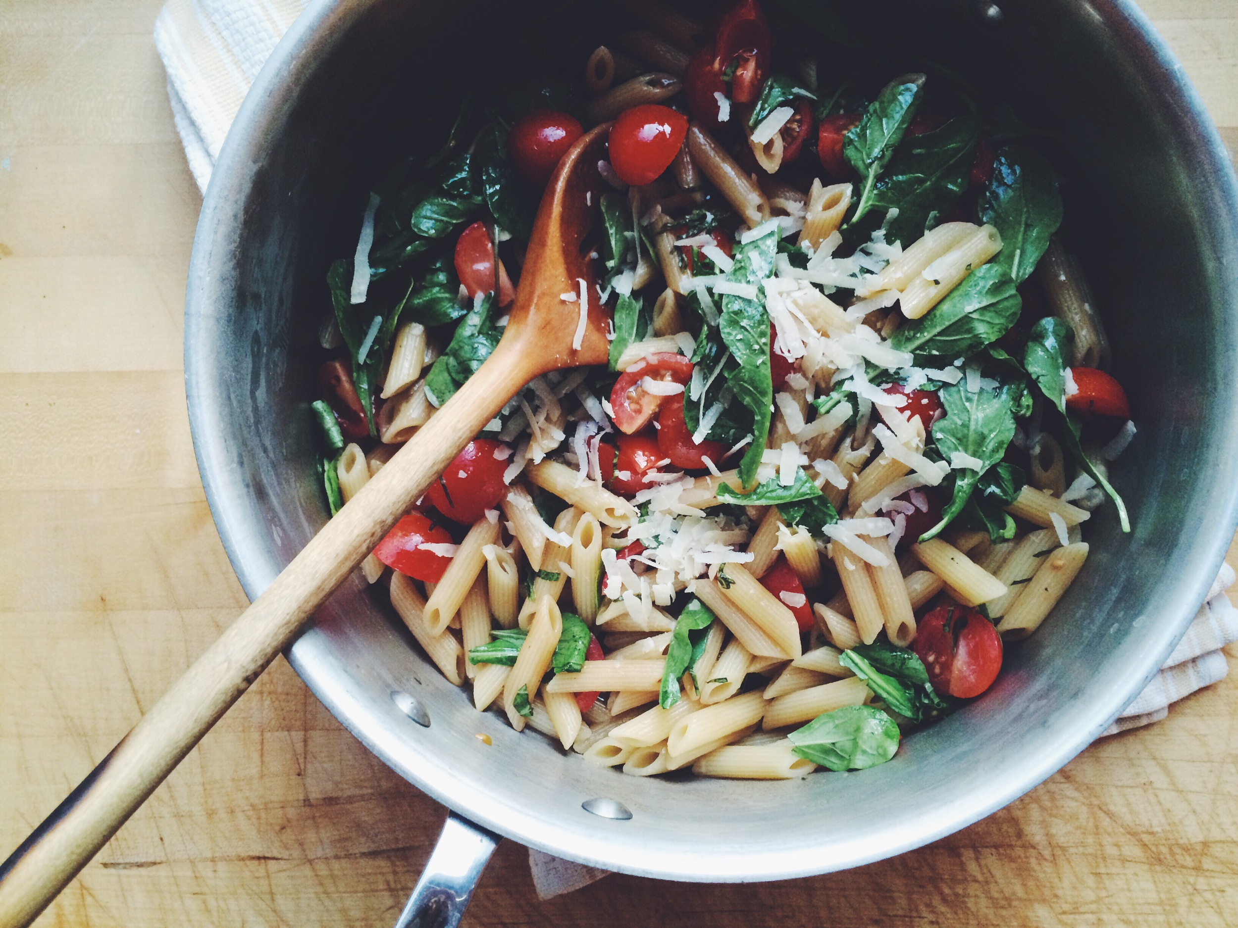 Penne with Cherry Tomatoes and Arugula | Eat This Poem