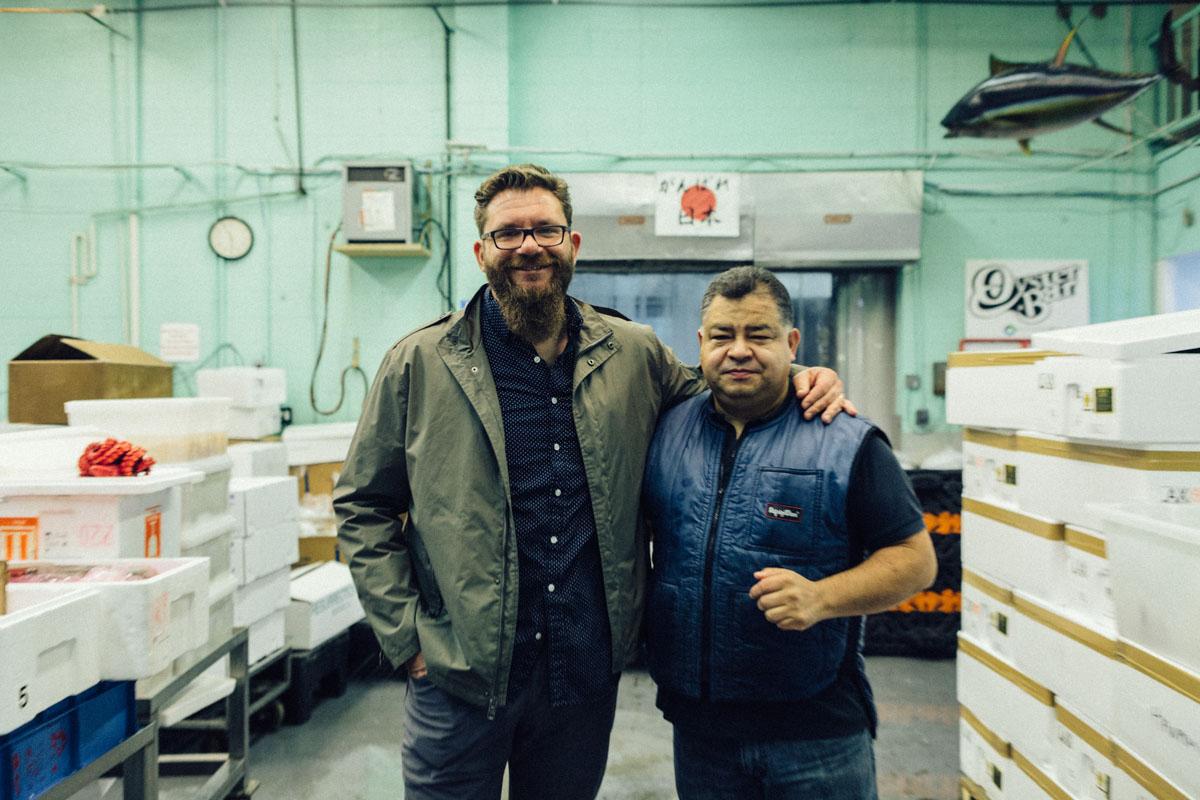 Chef Michael Cimarusti and Alfredo Gurrola | Photo by  Josh Telles