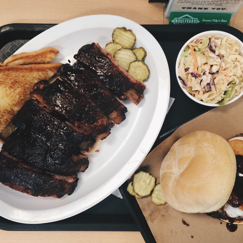Brisket and ribs at Joe's, Kansas City